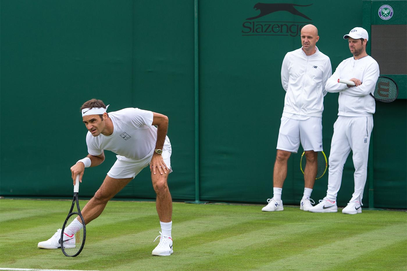 Ứng viên vô địch trong mùa giải Wimbledon - Federer
